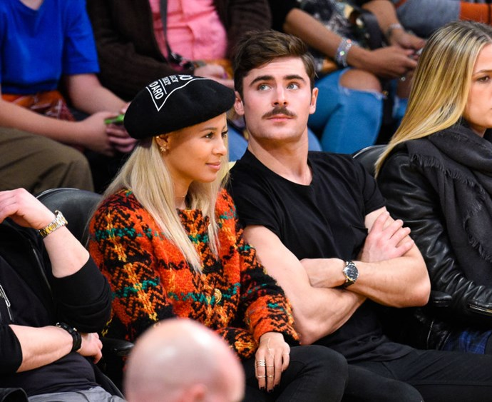 DECEMBER 19, 2014 He's also got a new gorgeous girlfriend, Sami Miró. The mustache is just temporary. GETTY