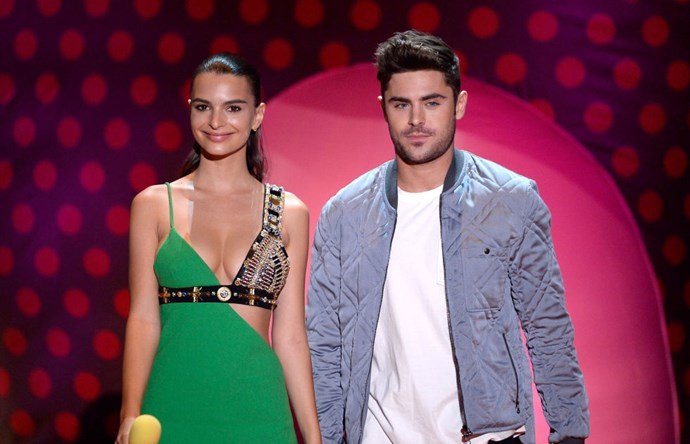 APRIL 12, 2015 He's also hanging out/presenting awards with more beautful hot people, like Emily Ratajkowski at the MTV Movie Awards.
