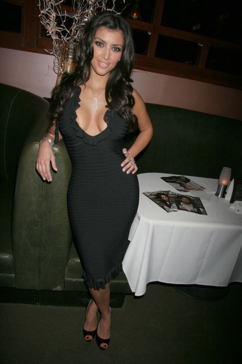 DECEMBER 2006 Kim basically made Herve Leger's bandage dresses famous all by herself.