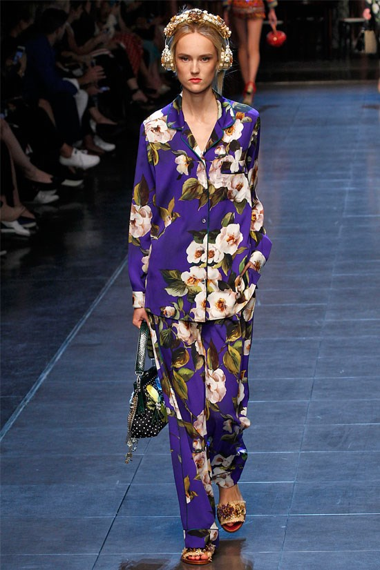 "<strong>Dolce & Gabbana</strong> (Milan) <br> <br> ""I always love a pyjama set – it's my go-to look for next season and this print was particularly strong at Dolce & Gabbana."""