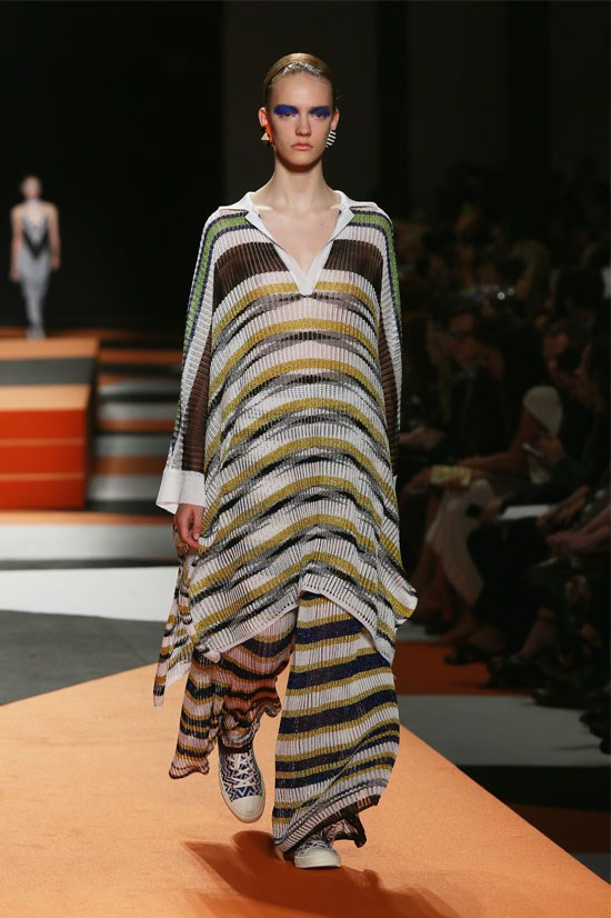 "<strong>Missoni </strong>(Milan) <br> <br> ""Another incredible collection of pyjama dressing mixed with stripes, wide leg pants, polo knits and tunic tops""."