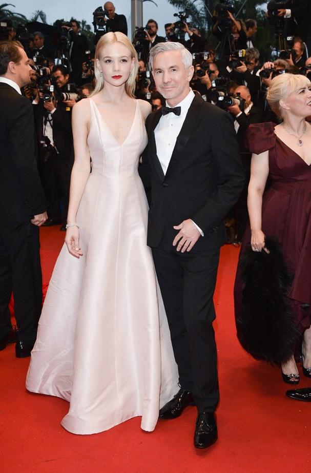 Carey Mulligan and Baz Luhrmann both in Dior.