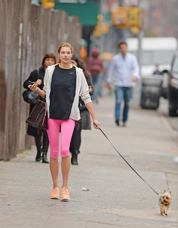 Pink seems to be Jess's go-to colour for sportswear.
