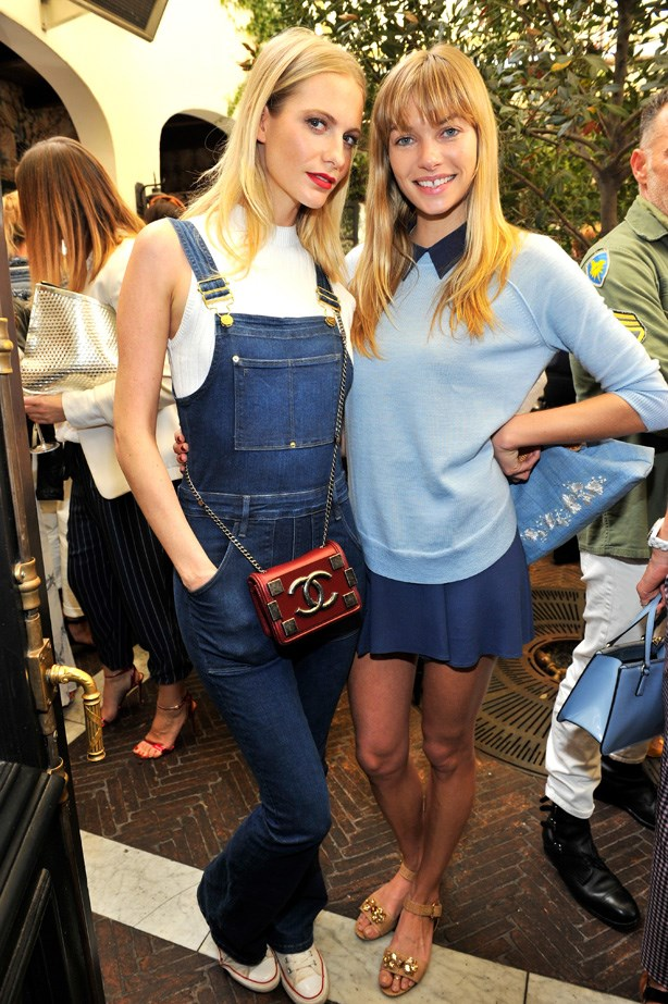 Hart looking preppy alongside her pal, Poppy Delevingne.
