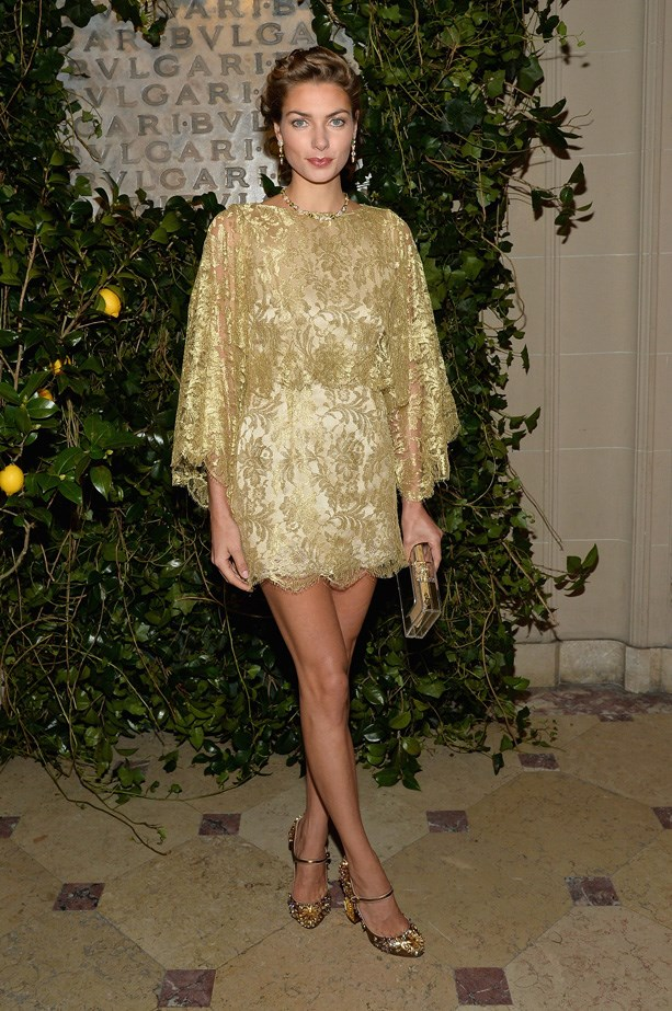 Jess is a Dolce dream in this golden number.