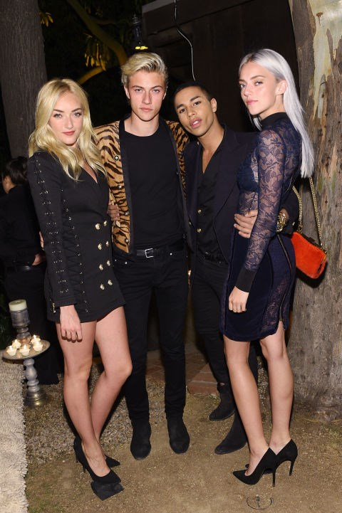 Daisy Clementine Smith, Lucky Blue Smith, Olivier Rousteing and Pyper American Smith