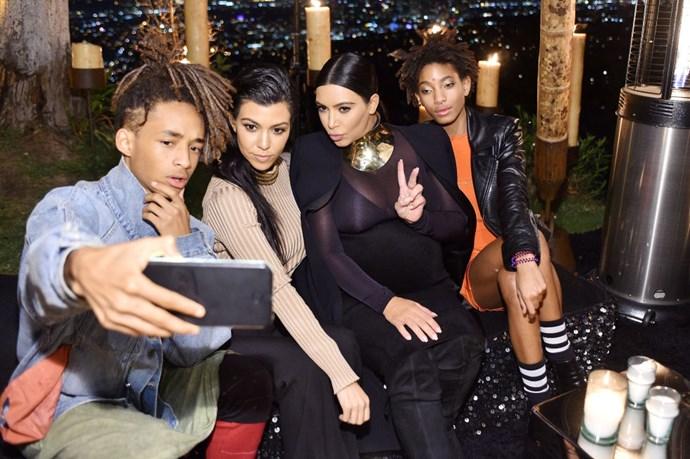 Jaden Smith, Kourtney Kardashian, Kim Kardashian and Willow Smith
