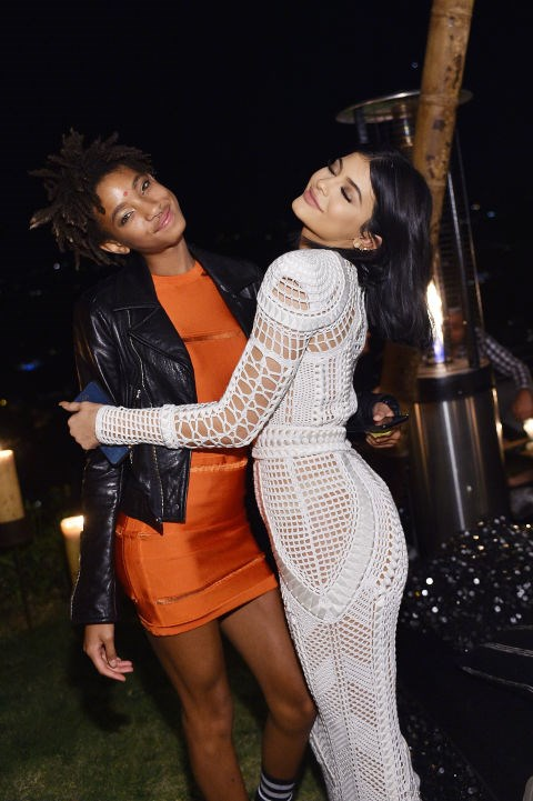 Willow Smith and Kylie Jenner