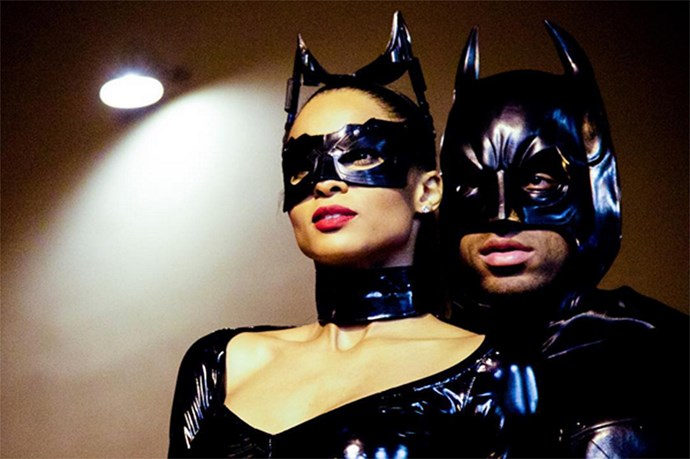 The birthday girl herself obviously came dressed as Catwoman, with her boyfriend, Russell Wilson, dressing as Batman.