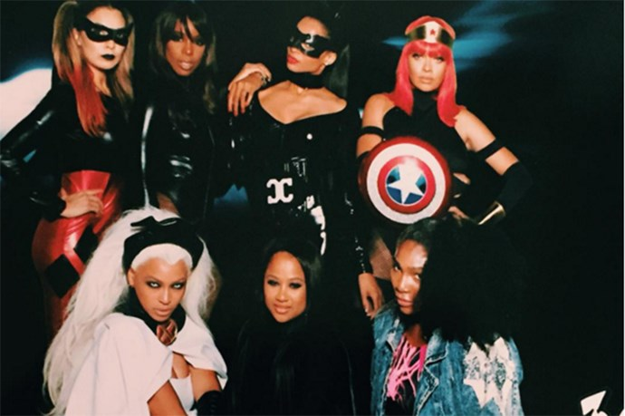 What dreams are made of: the cast of Ciara's party consisted of Kelly Rowland as Batgirl, Ciara as Catwoman, LaLa Anthony as a Captain America/Wonder Woman hybrid, Beyonce as Storm from the X-Men, and Serena Williams as Jubilee.