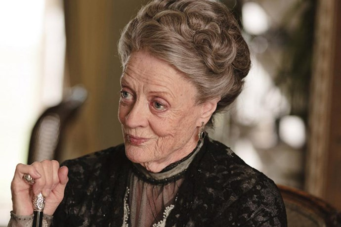 """Violet Crawley, Dowager Countess of Grantham. Could anybody else have such power with one cutting zinger or a raised eyebrow? Doubtful. Classic example? """"Don't be defeatist dear, it's very middle class.""""  Bravo!"""