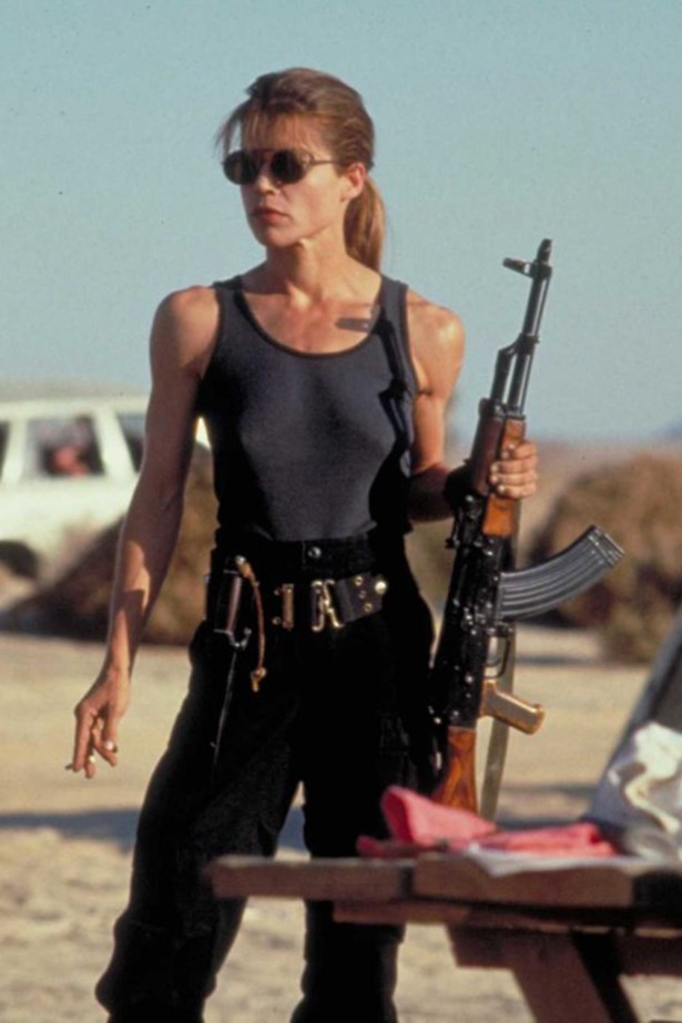 Basically everybody should pin this post of Sarah Connor in Terminator for life/biceps goals.