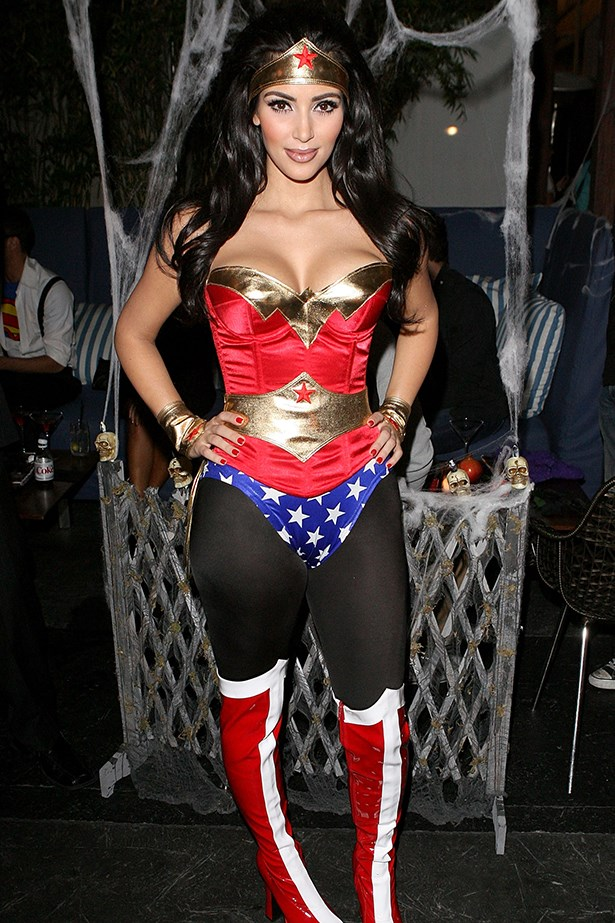 Kim Kardashian as Wonder Woman.