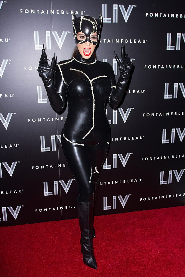 Kim Kardashian as Catwoman.