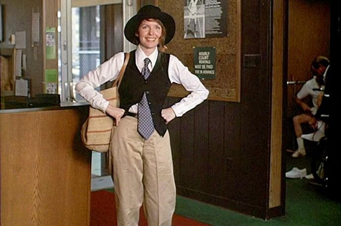 <em>Annie Hall.</em> Annie Hall's incredible menswear-inspired outfit still serves as #OOTDinspo around the globe.