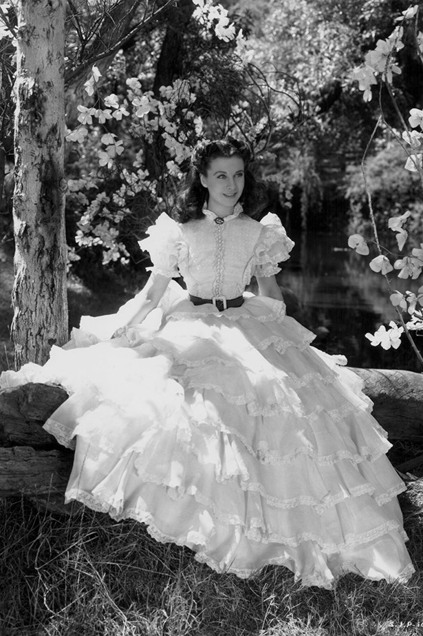<em>Gone With The Wind.</em> Frothy, ruffled frocks were the order of the day for Scarlett O'Hara in Gone With The Wind.