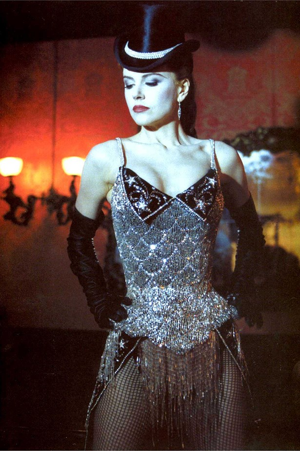 <em>Moulin Rouge.</em> Diamonds are a girl's best friend. Nicole Kidman's tiny waist and alabaster skin did this corset and gloves combo a huge favour.