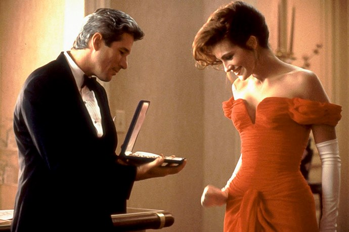<em>Pretty Woman.</em> The dress. The gloves. The hair. The snapped fingers in the jewelry box. Perfection.