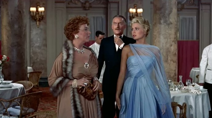 <em>To Catch A Thief.</em> This beautiful blue gown was one of Grace Kelly's own.