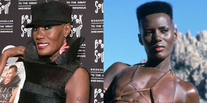<strong>GRACE JONES RIVALS ARNOLD IN 'THE DESTROYER'</strong> <br> <br> At its core, the 1984 action-adventure <em>Conan The Destroyer</em> is about Arnold Schwarzenegger and his biceps on the quest for a princess. But though tribal warrior Zula was also written as male, leave it to Grace Jones to reimagine the part. And, in the end, Zula becomes captain of the queen's guard—another before-its-time nudge that women make for kickass fighters and protectors.