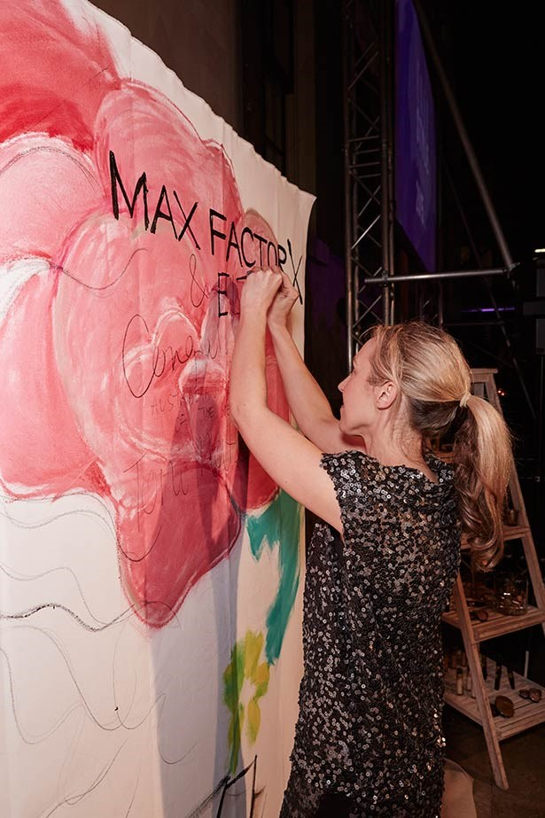 Guests get crafty at the event thanks to Max Factor.