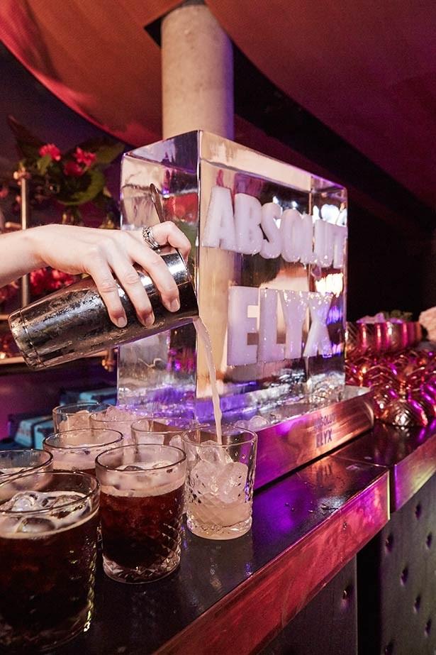 Cocktails at Absolut Elyx.