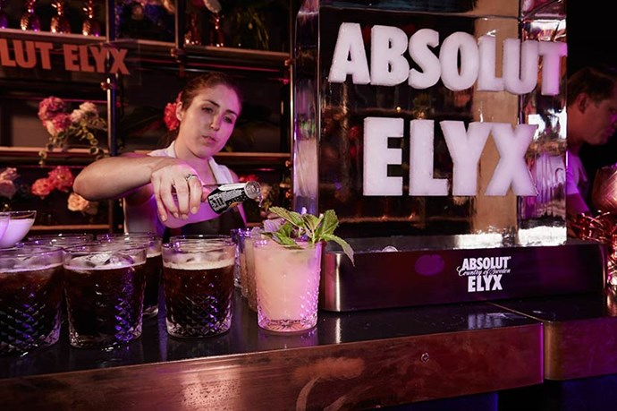 Cocktails by Absolut Elyx.