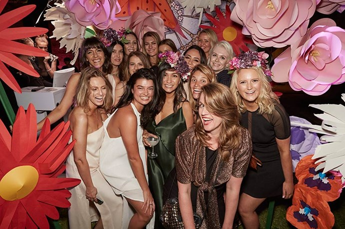 The ELLE staffers at the ELLE Style Awards.