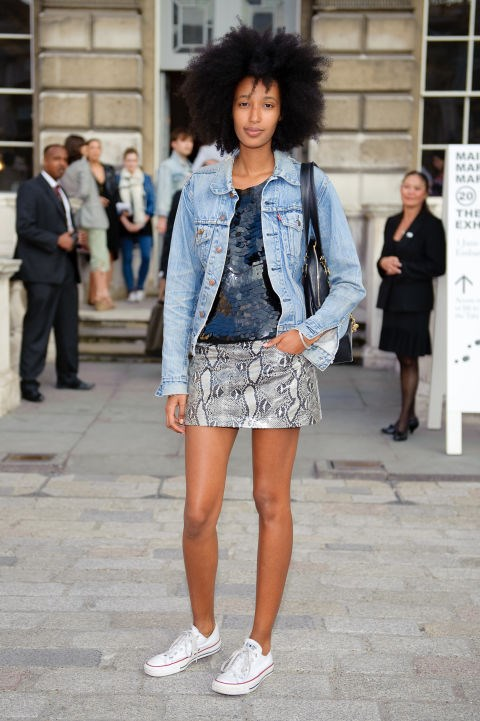 "<strong>JULIA SARR-JAMOIS</strong> <br> <br> ""I think French women are quite effortless — they know what they like and what they don't! I think once they have found their style they tend to stick to it.