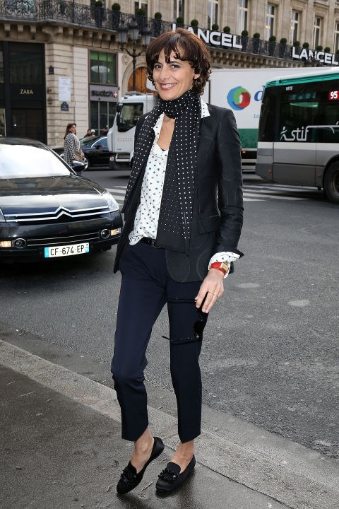"<strong>INÈS DE LA FRESSANGE</strong> <br> <br> ""10 lessons to master the offbeat look à la Parisienne. Among them: wearing jeans with gem-encrusted sandals, not sneakers; a pencil skirt with ballet flats, not heels; an evening dress with a straw handbag, not a gold clutch; a chiffon print dress with battered biker boots, not brand-new ballet flats; a sequined sweater with men's trousers, not a skirt; a tuxedo jacket with sneakers, not femme fatale stilettos. The perfect Parisienne never uses soap on her face or wears pink on her lips or goes out without makeup, even on weekends. She never buys long-stemmed flowers (too difficult to find a suitable vase), but likes to eat (""Rest assured, I do know a few size 4s.""). She washes her hair every morning."" - adapted from De La Fressange's book, <em>Parisian Chic: A Style Guide</em> in <a href=""http://www.nytimes.com/2011/04/21/fashion/21Ines.html?&_r=1"">The New York Times</a>"