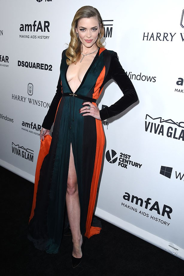 Jaime King attends the AmfAR Inspiration Gala in LA.
