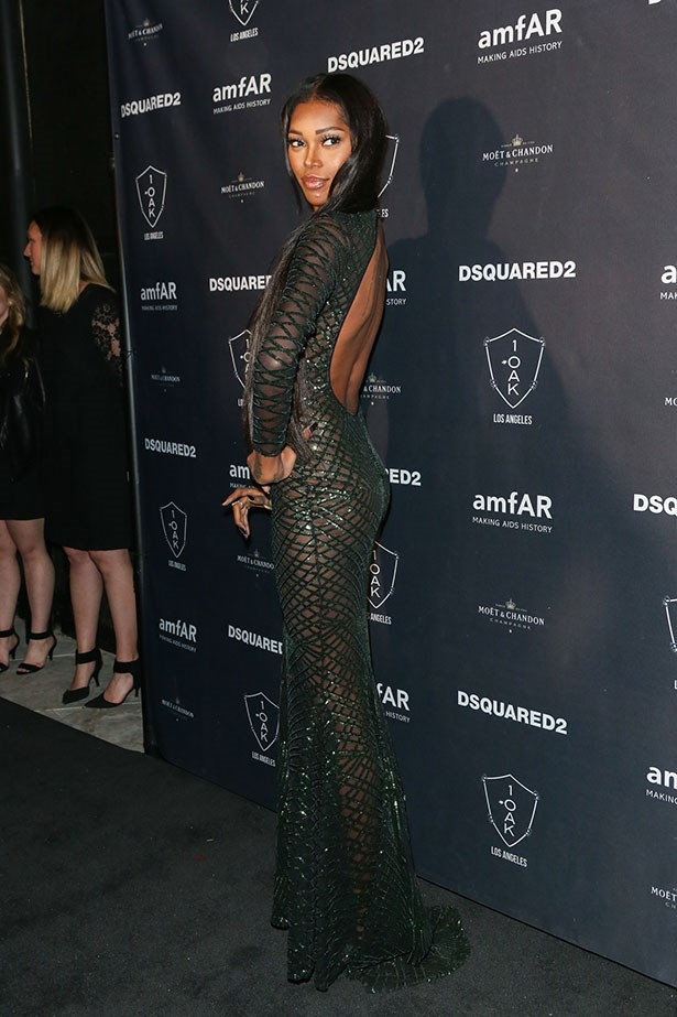 Jessica White attends the AmfAR Inspiration Gala in LA.