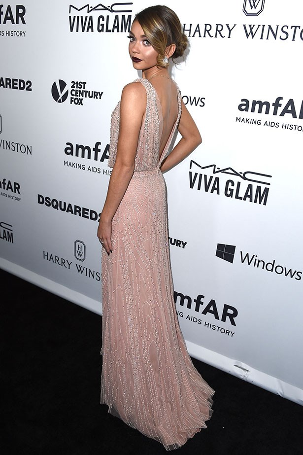 Sarah Hyland attends the AmfAR Inspiration Gala in LA.