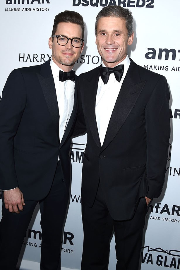 Matt Bomer and Simon Halls attend the AmfAR Inspiration Gala in LA.