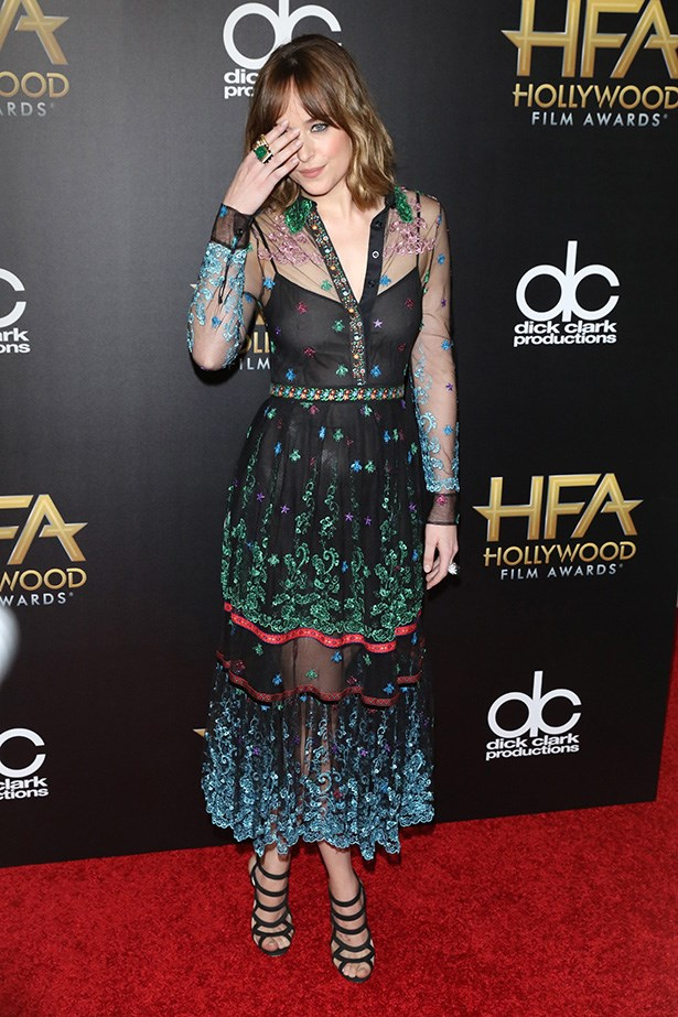 Dakota Johnson at the Hollywood Film Awards.