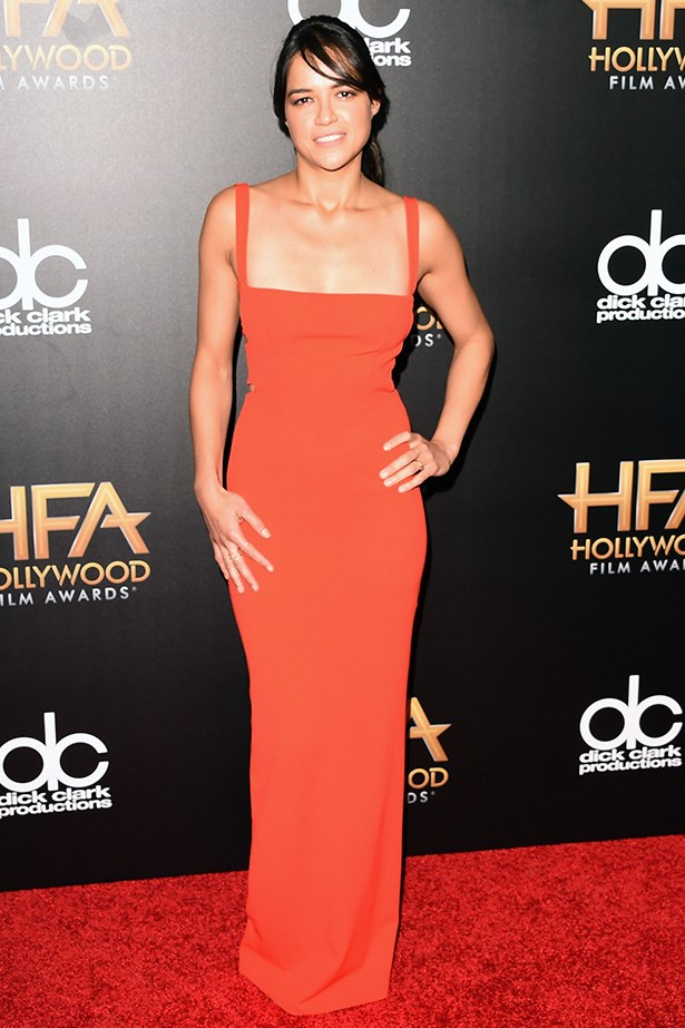 Michelle Rodriguez at the Hollywood Film Awards.