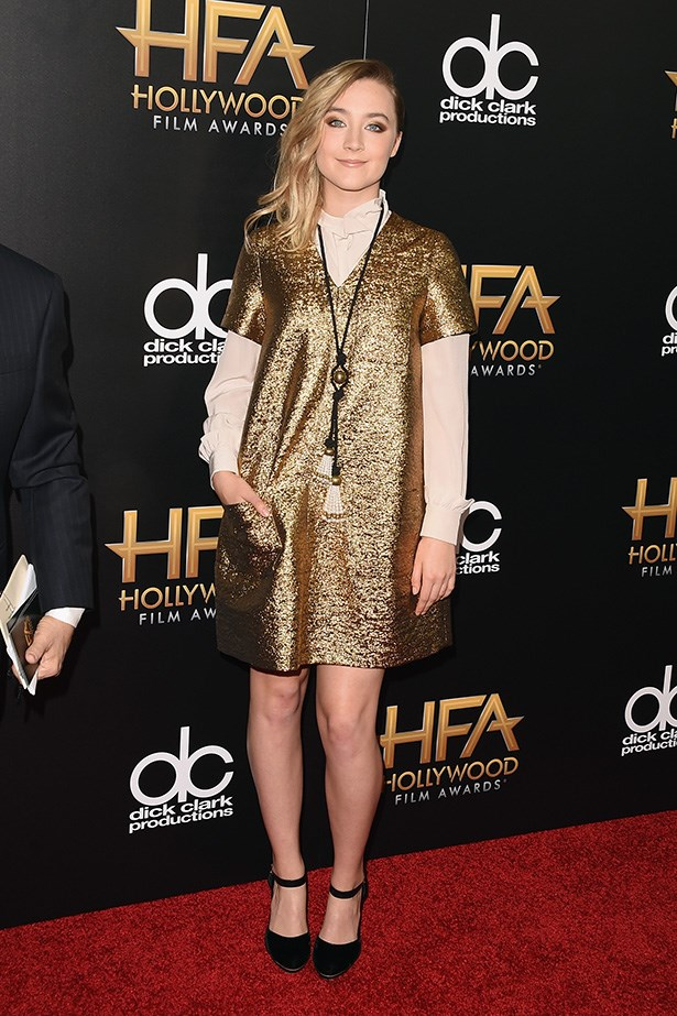 Saoirse Ronan at the Hollywood Film Awards.
