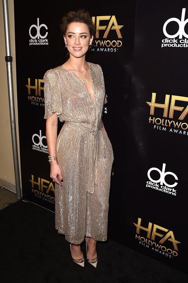 Amber Heard at the Hollywood Film Awards.
