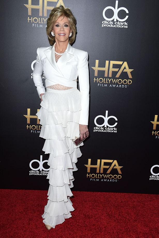 Jane Fonda at the Hollywood Film Awards.