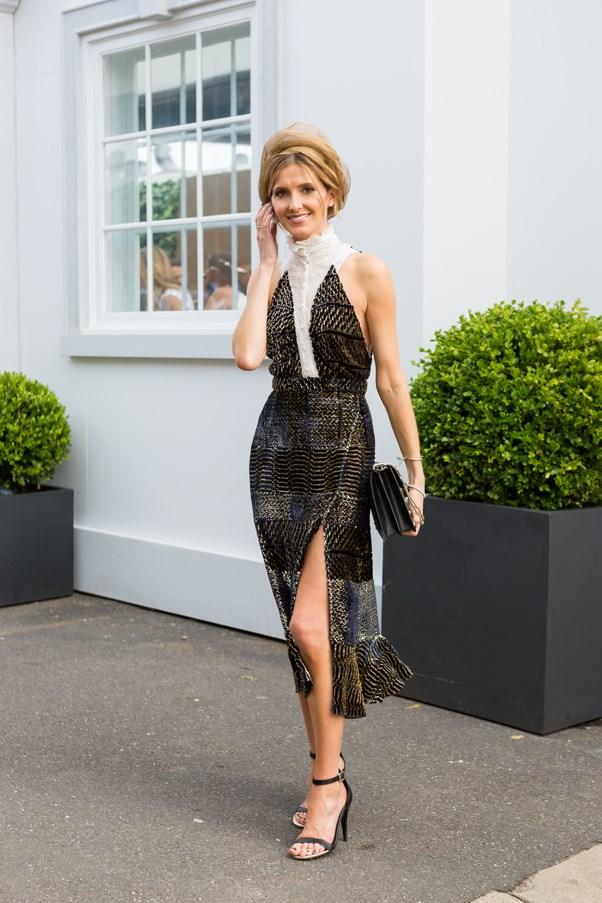 Name: Kate Waterhouse<br><br> Outfit: Altuzarra Studios dress, Hatmaker hat Race day: Melbourne Cup 2015 Location: Flemington, Melbourne