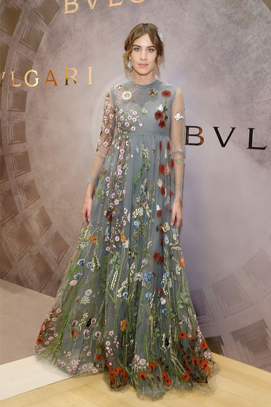 Alexa Chung at the Bvlgari & Rome: Eternal Inspiration Opening Night