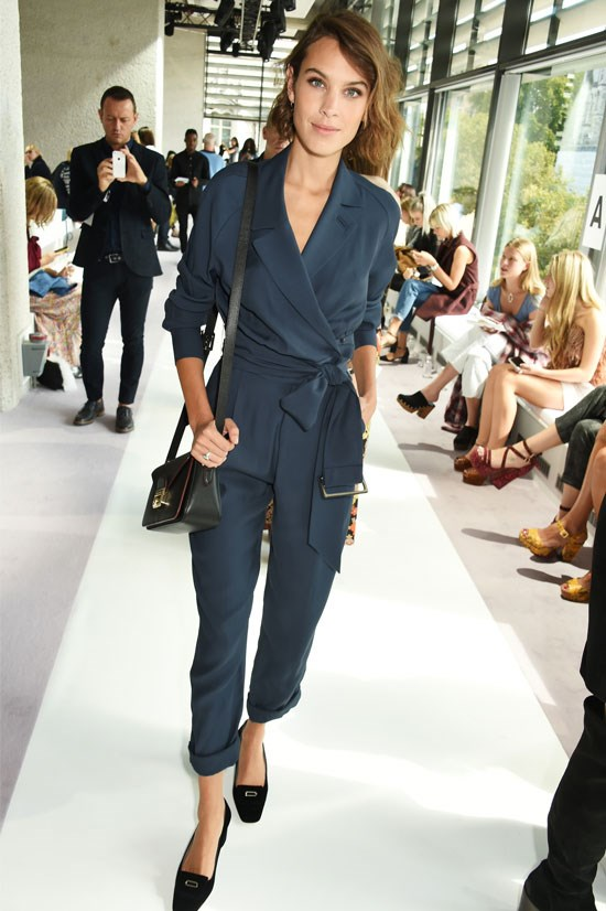 Alexa Chung at the Topshop Unique SS16 Show during London Fashion Week