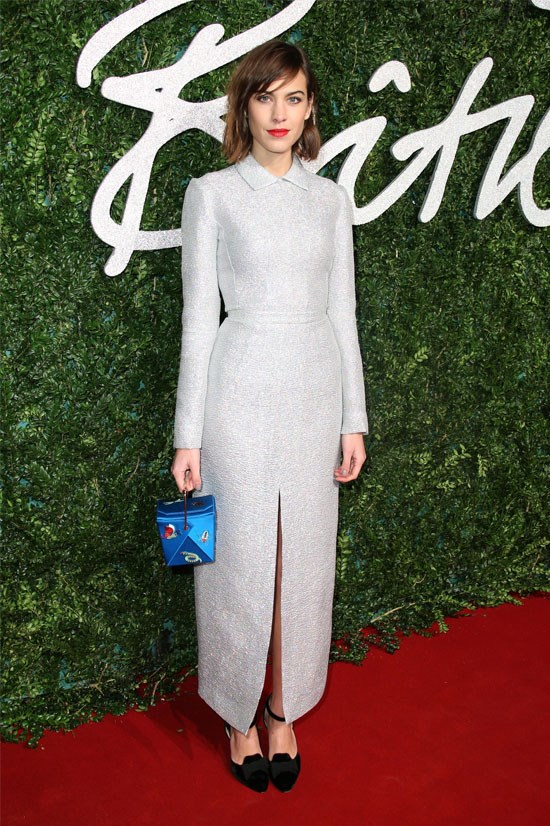 Alexa Chung at the 2015 British Fashion Awards