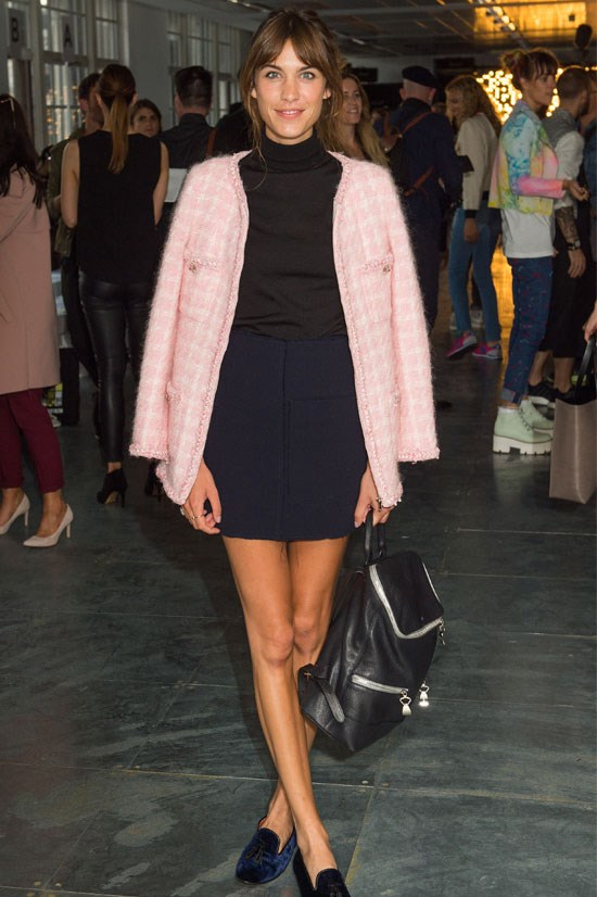 Alexa Chung at the House of Holland SS15 Show during London Fashion Week