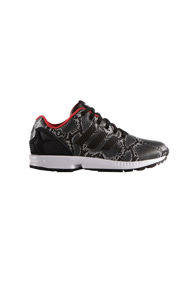 "Adidas Flux trainers, $100,<a href=""http://www.stylerunner.com/shop/product/B35310/zk-flux-w-core-black-tomato.html""> Style Runner </a>"