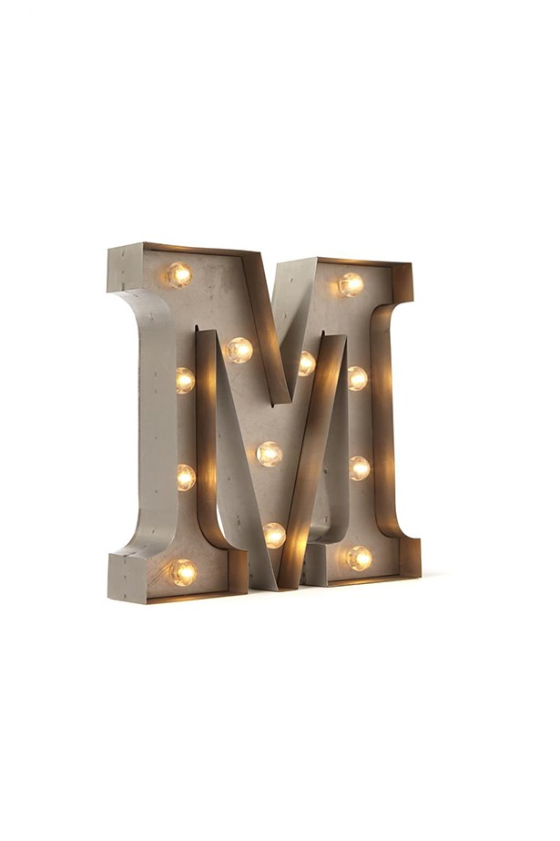 "Letter marquee light, $39.99, <a href=""http://cottonon.com/AU/p/typo/small-letter-marquee-light/2013709527981.html "">Typo</a>"