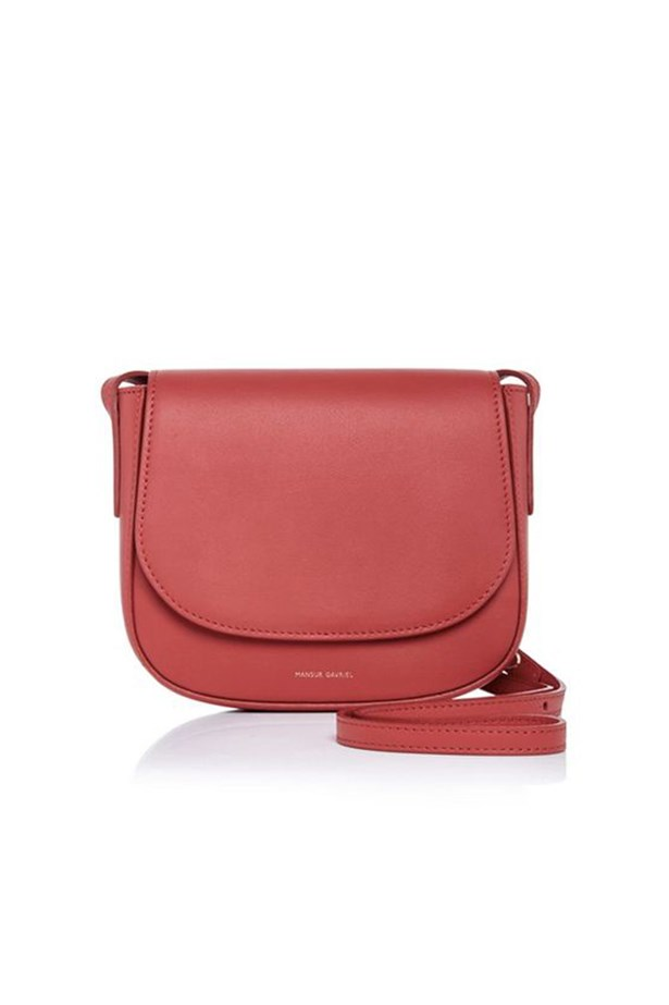 "Mansur Gavriel Mini Crossbody Bag, $525, <a href=""https://www.modaoperandi.com/mansur-gavriel-fw15/calf-leather-mini-crossbody-bag-in-flamma-with-flamma"">Moda Operandi </a>"