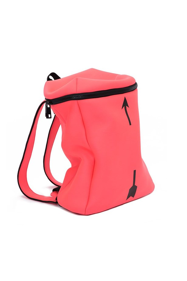 "Xander backpack, $94, <a href=""http://www.theupsidesport.com/sale/xander-backpack-neon-pink"">The Upside</a>"