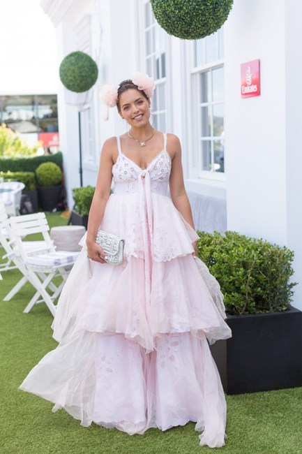 Name: Olympia Valance Outfit: Nevenka dress and millinery Race day: Stakes Day 2015 Location: Flemington, Melbourne