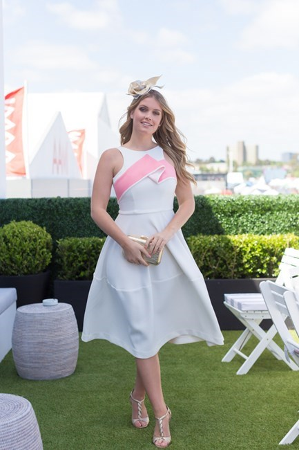 Name: Lady Kitty Spencer Outfit: By Johnny dress Race day: Stakes Day 2015 Location: Flemington, Melbourne